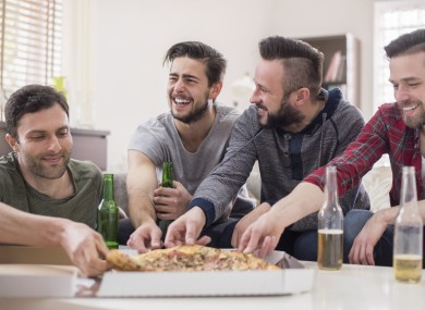 Tips for House Sharing - Men eating pizza
