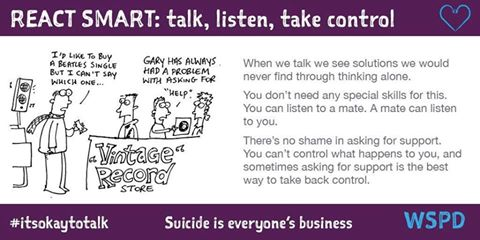 World Suicide Prevention Day - It's OK to talk